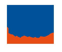 Das Logo des Projektes Wundernetz 2. Ein Herz in einem blauem Farbklecks