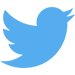 Das Logo von Twitter. Ein blauer Vogel.