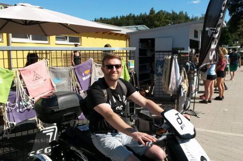 Jürgen auf einem Jet Flyer