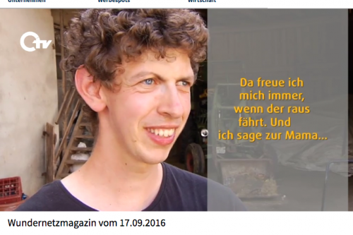 Philipp wird interviewt