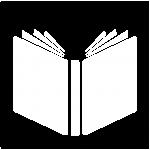 """Das Symbol für den Bereich """"Geschichten"""": Ein offenes Buch."""