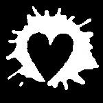 """Das Symbol für den Bereich """"Wundernetz"""": Ein Herz innerhalb eines Farbkleckses."""