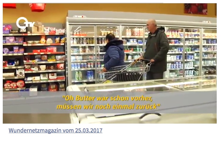 Ausschnitt aus der Sendung: Anette und Peter beim Einkaufen